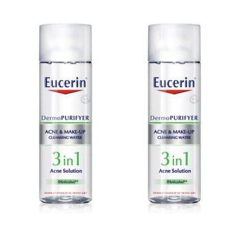 Harga Eucerin Eucerin DermoPurifyer Acne&Make-up Cleansing Water 200 mL X 2 Bottle