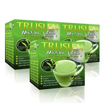Truslen Matcha Latte ทรูสเลน มัทฉะ ลาเต้ เครื่องดื่มชาเขียวมัทฉะ 3 in 1 (แพ็ค 3 กล่อง)