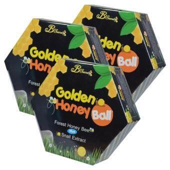 Golden Honey Ball มาส์กลูกผึ้ง สบู่กึ่งมาส์ก ดีท็อกซ์ผิว กลิ้งแล้วหนืด ยืดแล้วมาส์ก (3 กล่อง)