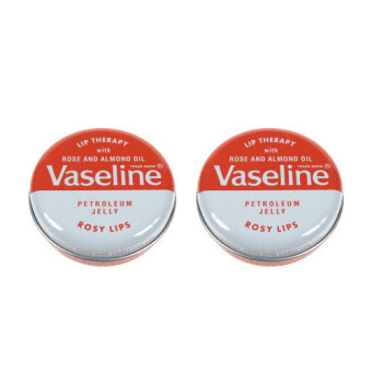 Harga Vaseline Lip Therapy Petroleum Jelly Rosy Lips (ตลับเหล็ก)( 2 ตลับ)