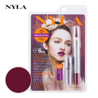 ลิปสติก NYLA Matt Lip Creator สี Screaming Red