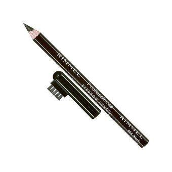 Rimmel, professional eyebrow pencil, ดินสอเขียนคิ้ว, น้ำตาลดำ, (เบอร์ #004,Black Brown x 1 แท่ง)