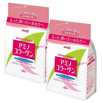 Meiji Amino Collagen 5000mg. แบบรีฟิล (2 ถุง x 214g.)