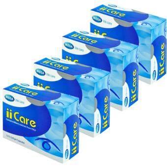 Mega II Care เมก้า ไอไอแคร์ บิลเบอร์รีสกัด ลูติน เบต้าแคโรทีน 30 Capsule x 4 Box
