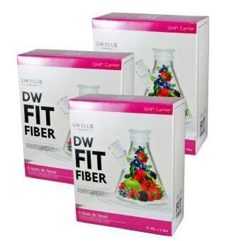 DW Fit Fiber Detox ดี ดับบลิว ฟิต ไฟเบอร์ ดีท๊อกซ์ ลดน้ำหนัก ล้างสารพิษ หุ่นสวย ผิวใส ลำใส้สะอาด 3 กล่อง (5 ซอง/กล่อง)