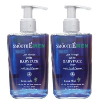 Smooth E Men Liquid Facial Cleanser 200ml. (2 ขวด)