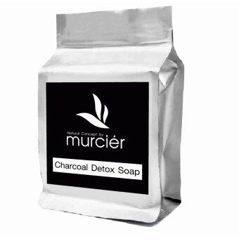 Murcier สบู่ชาโคลญี่ปุ่น สบู่ดำแก้ปัญหาสิวอุดตันไร้สารเคมี 100g