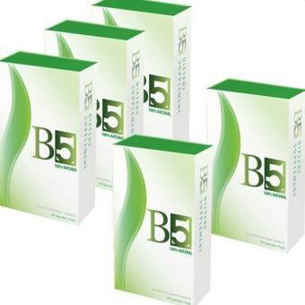 B5 slim อาหารเสริมลดน้ำหนัก กระชับสัดส่วน 30 แคปซูล (5 กล่อง)