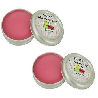 Little Baby Sweet Macaron Lip Balm ลิปปากชมพู 10 g.( 2 ตลับ)
