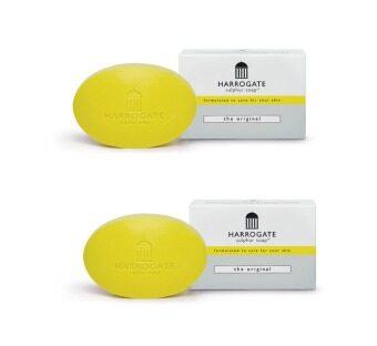 HARROGATE Soap เหลือง original สิว ผดผื่น โรคผิวหนัง ควบคุมความมัน