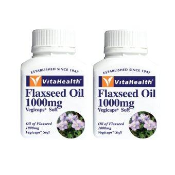 Harga VitaHealth Flaxseed Oil 1000mg (60 เม็ด x 2 กระปุก)
