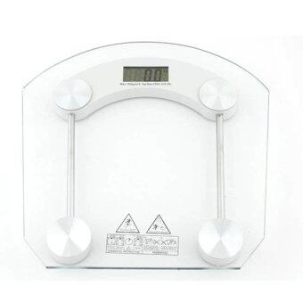 HS Sector electronic scale Electronic weight scale เครื่องชั่งน้ำหนักดิจิตอล กระจกใส รุ่น (white)