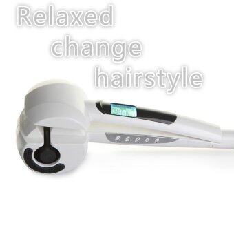 Harga LCD Fully Automatic Hair Curler Fashion Curly Hair Salon Tool Hair Stick (White) - intl