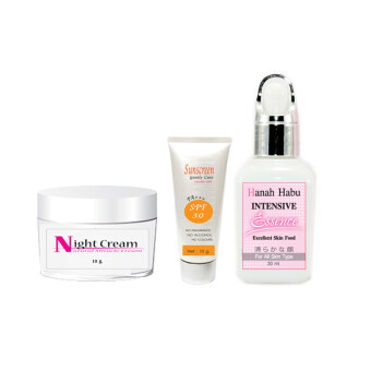 Harga Hanahhabu Intensive Essence+Night Cream+Sunscreen Gentle care