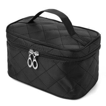 ถุงซิปเก็บเครื่องสำอางประเภทเครื่องสำอางกระเป๋าเงินจัดการสีดำ