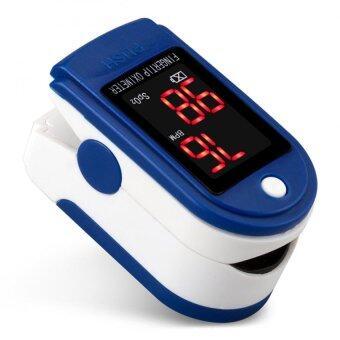 นิ้วตัววัดอัตราการเต้นของหัวใจชีพจรดิจิตอล Oximeter สีน้ำเงิน
