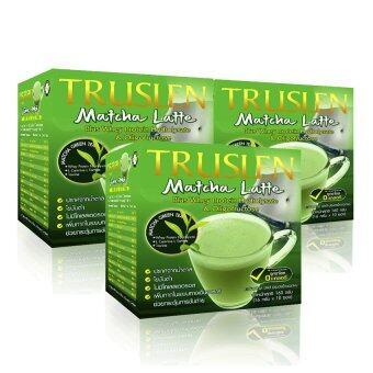 Truslen Matcha Latte ชาเขียวมัทฉะ 3 in 1 (แพค 3 กล่อง)