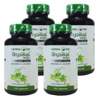 ปัญจขันธ์ Herbal One Jiaogulan 100 Capsule x 4 Bottle