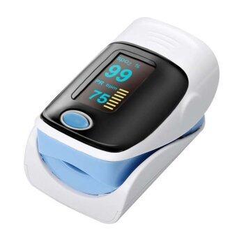 ตรวจสุขภาพตรวจชีพจร Oximeters นิ้วอัตราการเต้นของหัวใจจังหวะ (สีน้ำเงิน)