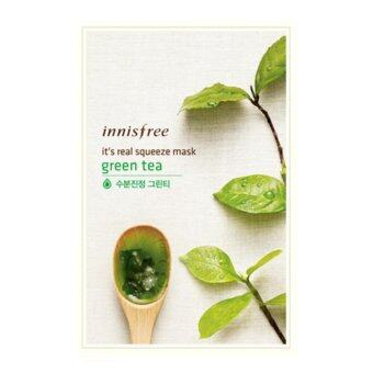 (5แผ่น) Innisfree It's Real Squeeze Mask Green tea มาส์กหน้า