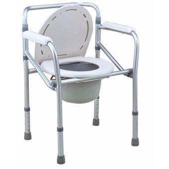 DDZone เก้าอี้นั่งถ่ายอลูมิเนียมอัลลอยด์ แบบพับได้ (สีเทา)
