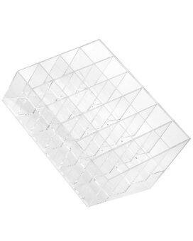 Gracefulvara 24 กริดสี่เหลี่ยมข้าวหลามตัดแต่งดิสเพลย์บูธเครื่องสำอางลิปสติกกล่องเก็บเคสออแกไนเซอร์