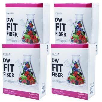 DW Fit Fiber Detox ดี ดับบลิว ฟิต ไฟเบอร์ ดีท๊อกซ์ อาหารเสริมลดน้ำหนัก ล้างสารพิษ ขับของเสีย หุ่นสวย ผิวใส ลำใส้สะอาด ขนาด 5 ซอง (4 กล่อง)