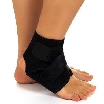 ข้อเท้าเท้าสนับสนุนกีฬาฟุตบอลบาสเกตบอลเหล็กสีดำ