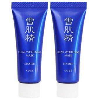 Kose sekkisei clear whitening mask มาส์กดำ 10 ml. 2 ชิ้น