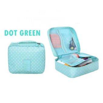 Asia กระเป๋าจัดระเบียบใส่เครื่องสำอางค์ ลาย Dot Green