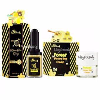 B'Secret Queen Bee Drop บีซีเคร็ท น้ำหยดนางพญา ขนาด 30ml. + Honey Bee Cream ครีมน้ำผึ้งป่า บรรจุ 15 กรัม