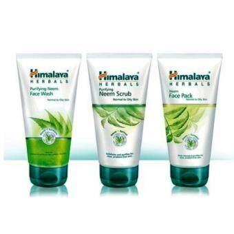 Himalaya Pure Skin Neem Facial Kit 3 เซ็ทรักษาสิว 50 กรัม