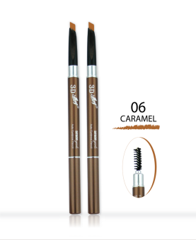 Saynow Girls 3D ART AUTO EYEBROW PENCIL ดินสอเขียนคิ้ว (0.3ml.) NO.06 CARAMEL (2 ชิ้น)