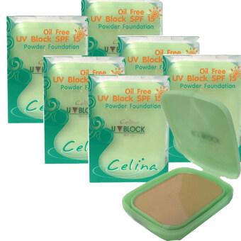 Celina UV Block SPF15 14g เบอร์ #1 ผิวขาว (6 ตลับรีฟิล)