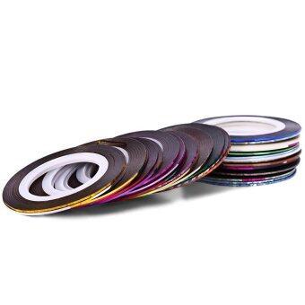 30 สีเล็บทำเล็บทาสีเส้นสติ๊กเกอร์เรเดียมกาวเครื่องเพชรพลอย