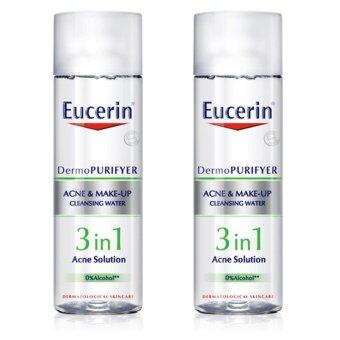 Harga Eucerin Eucerin Acne&Make-up Cleansing Water 200 mL X 2 Bottle
