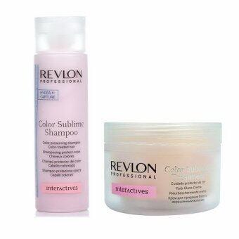 Revlon color sublime shampoo + treatment ชุดบำรุงแชมพูพร้อมทรึตเม้นท์สูตรเข้มข้นระดับซาลอน สำหรับผมทำสีโดยเฉพาะ
