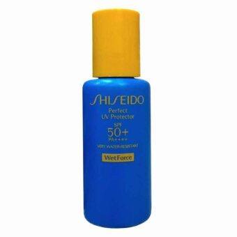 Shiseido Perfect UV Protector SPF 50+ PA++++ครีมกันแดดสำหรับผิวหน้าและผิวกาย Very Water-Resistant [WetForce] 15ml (1 ขวด)