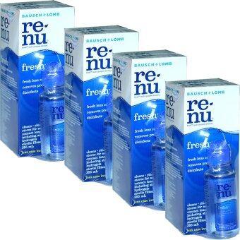 Renu Fresh Multi Purpose Solution 355 ml (4ขวด) แถมฟรี ขวดเล็ก 60 ml 4 ชุด