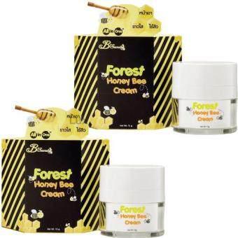 B'Secret Forest Honey Bee Cream บี ซีเคร็ท ครีมน้ำผึ้งป่า ครีมบำรุงผิวหน้าเนียนเด้ง ขนาด 15 กรัม (2 กระปุก)