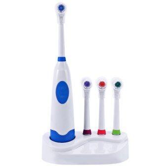 แปรงสีฟันไฟฟ้าพร้อมหัวแปรงฟันอุปกรณ์ดูแลอนามัยช่องปาก (สีน้ำเงิน)