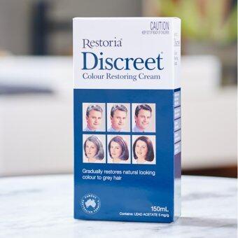 Discreet Colour Restoring Cream 250 ml (ครีมแต่งผมดำ เรสโตเรีย 250 มล.)
