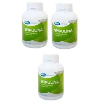 Mega We Care Spirulina 500mg 100เม็ด(3ขวด)สาหร่ายสไปรูลิน่า