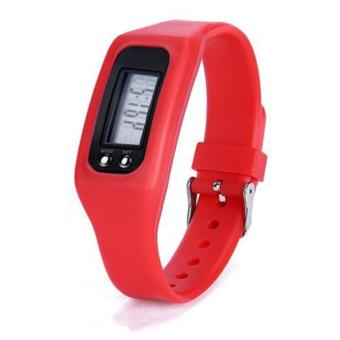 HAZU นาฬิกานับก้าวเดิน HAZU W2 วัดแคลอรี่ วัดระยะทางกิโลเมตร เครื่องนับก้าว (สีแดง) DigitalLCD Pedometer Run-Step Walking Distance Calorie Counter