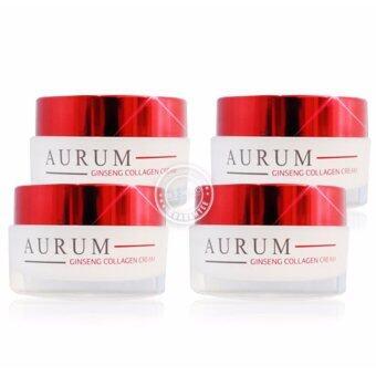ครีม อั้ม พัชราภา Aurum Ginseng Collagen Cream ครีมออรั่ม ครีมบำรุง ครีมโสม ครีมอั้ม 50g. (4กล่อง)