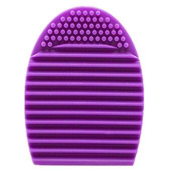 2559 ใหม่ทำความสะอาดแปรงแต่งหน้าแปรงรองพื้นเครื่องสำอางเครื่องมือล้างซิลิโคน (ลึกสีม่วง)