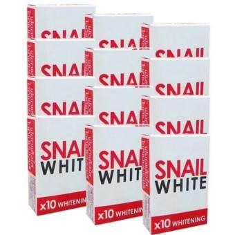 Snail White Soap x10 Whiteningสบู่หอยทากฟอกผิว70g.แพ็ค12ก้อน