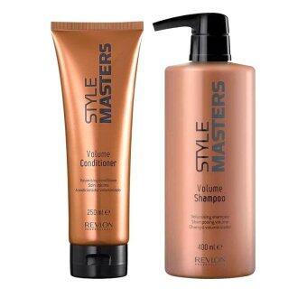 Revlon Style Master Volumizing shampoo 400ml + conditioner 250ml เป็นแชมพูและครีมนวดสูตรพิเศษที่ช่วยบำรุงเส้นผมและหนังศรีษะ เหมาะสำหรับผมเส้นเล็ก
