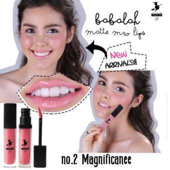 Babalah Matte Me Lips ลิปสติก เบอร์ 02 Magnficanee