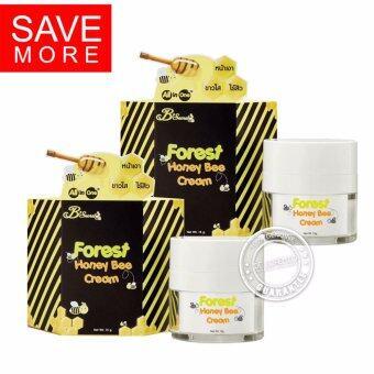 B'Secret Forest Honey Bee Cream บี ซีเคร็ท ครีมน้ำผึ้งป่า B Secret ครีมผึ้งป่า บีซีเคร็ท ขนาด 15 กรัม (2 กล่อง)